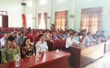 Nghĩa Khánh khai giảng lớp học kỹ thuật trồng nấm ăn cho nông dân