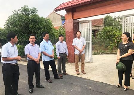Nghĩa Đàn thăm quan, học tập kinh nghiệm xây dựng vườn mẫu, Khu dân cư NTM kiểu mẫu tại Can Lộc, Thạch Hà ( Hà Tĩnh )