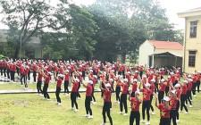 Hội LHPN xã Nghĩa Hiếu tổ chức hội thi đồng diễn dân vũ
