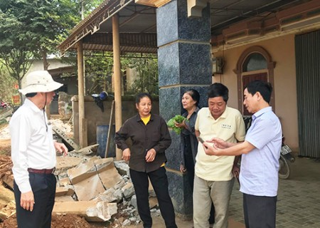 Kiểm tra tiến độ  thi công 1 số công trình và việc giải tỏa tuyến đường cứu hộ