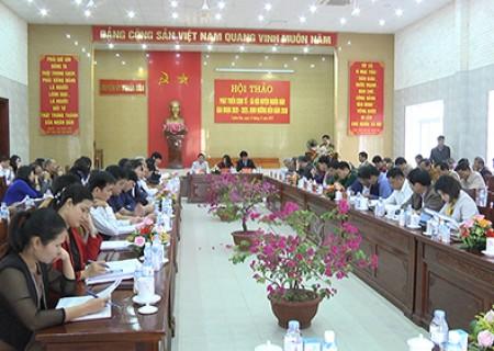 Hội thảo phát triển kinh tế - xã hội huyện Nghĩa Đàn giai đoạn 2020 – 2025, định hướng đến năm 2030