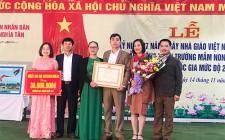 Trường mầm non Nghĩa Tân đón bằng công nhận trường đạt chuẩn Quốc gia mức độ 2