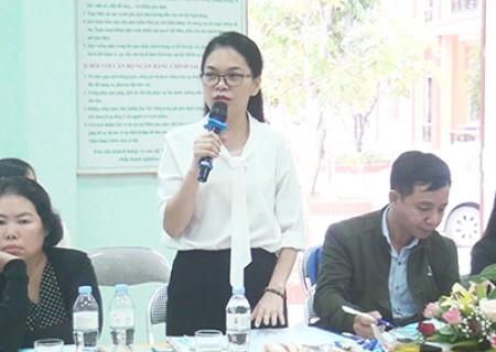 Thẩm định xã đạt chuẩn NTM tại xã Nghĩa Trung