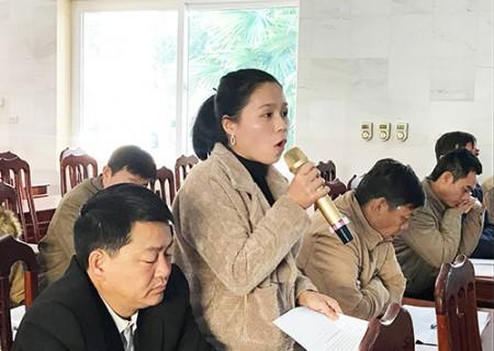 Thường trực HĐND huyện giao ban với thường trực HĐND 25 xã, thị trấn, 2 ban HĐND và các tổ HĐND huyện khóa XIX