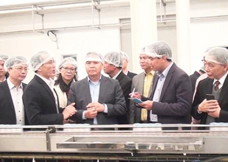 Đồng chí Saysomphone Phomvihane, UV BCT, Chủ tịch Ủy ban Trung ương Mặt trận Lào xây dựng đất nước đã đến thăm một số dự án, mô hình kinh tế trên địa bàn Nghĩa Đàn