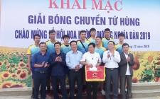 Đội Nghĩa Sơn giành giải nhất giải bóng chuyền tứ hùng chào mừng lễ hội hoa hướng dương Nghĩa Đàn năm 2019