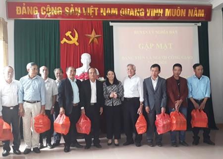 BTV huyện ủy Nghĩa Đàn gặp mặt các đảng viên là người công giáo năm 2020