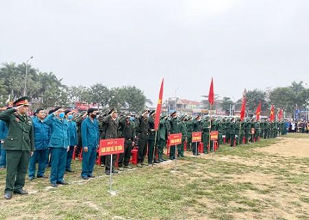 Nghĩa Đàn tổ chức lễ giao nhận quân năm 2020