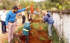 Hội nông dân xã Nghĩa Thành, Nghĩa Trung  trồng hàng cây Nông dân ơn Bác