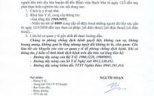 Thông báo khai báo y tế đối với người dân đã đến bệnh viện Bạch Mai