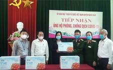 Tập đoàn TH trao tặng 100 thùng sữa tươi cho các lực lượng phục vụ tại các điểm cách ly tập trung trên địa bàn huyện Nghĩa Đàn
