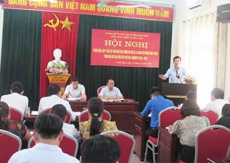 MTTQ huyện Nghĩa Đàn tổ chức hội nghị phản biện, góp ý vào dự thảo báo cáo chính trị của BCH Đảng bộ huyện