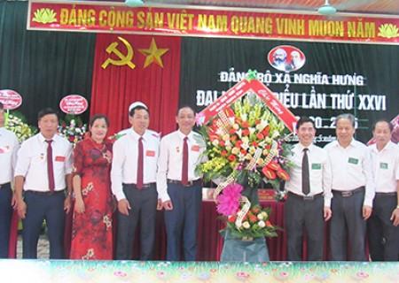 Đại hội đại biểu đảng bộ xã Nghĩa Hưng lần thứ XXVI