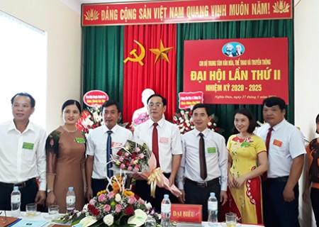 Đại hội Chi bộ trung tâm Văn hóa, Thể thao và Truyền thông huyện Nghĩa Đàn