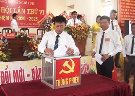 Đại hội Đảng bộ Nghĩa Phú lần thứ VI nhiệm kỳ 2020 - 2025