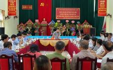 UBND huyện làm việc với xã Nghĩa Thịnh về tiến độ thực hiện chương trình mục tiêu Quốc gia xây dựng NTM