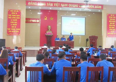 Huyện đoàn Nghĩa Đàn đánh giá kết quả giữa nhiệm kỳ thực hiện Nghị quyết đại hội khóa XXIV