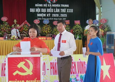 Đảng bộ xã Nghĩa Trung tổ chức Đại hội đại biểu lần thứ XXII, nhiệm kỳ 2020 - 2025