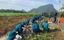 Ra quân thực hiện công tác dân vận tại xã Nghĩa Thành