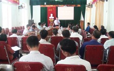 UBND huyện làm việc với xã Nghĩa An về tiến độ xây dựng nông thôn mới