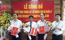 Lễ công bố quyết định thành lập Trung tâm Dịch vụ Nông nghiệp huyện Nghĩa Đàn