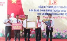 Trường Tiểu học Nghĩa Phú, THCS Nghĩa Yên đón bằng công nhận đạt chuẩn Quốc gia mức độ 1