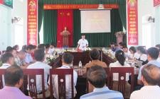 UBND huyện Nghĩa Đàn làm việc với xã Nghĩa Lâm về tiến độ xây dựng NTM