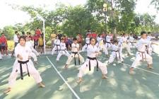 Khai giảng lớp bóng chuyền, võ karatedo năng khiếu hè 2020