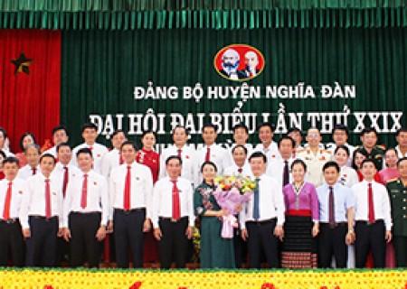 Danh sách BCH Đảng bộ huyện Nghĩa Đàn khóa XXIX, nhiệm kỳ 2020 – 2025 ( xếp theo vần ABC…)