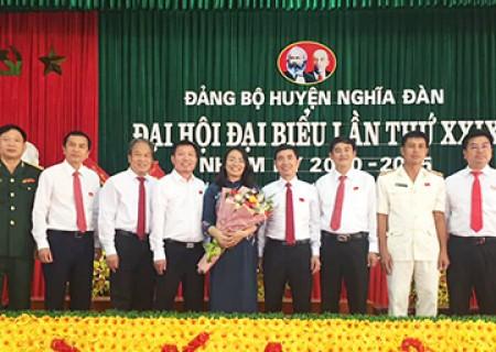 Danh sách BTV Huyện ủy Nghĩa Đàn khóa XXIX