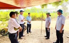 Chủ tịch UBND huyện kiểm tiến độ của dự án đường Miền Tây