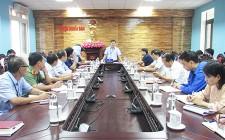Họp BCĐ xây dựng NTM huyện Nghĩa Đàn