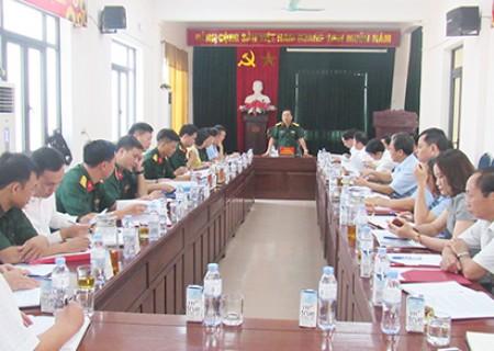 Công bố quyết định kiểm tra của BTV Tỉnh ủy về  việc lãnh đạo, chỉ đạo, thực hiện nhiệm vụ quân sự - quốc phòng huyện Nghĩa Đàn