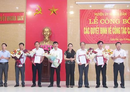BTV Huyện ủy Nghĩa Đàn công bố các quyết định về công tác cán bộ
