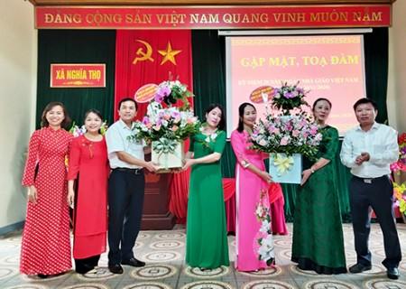 Đồng chí chủ tịch UBND huyện chúc mừng Ngày Nhà giáo Việt Nam