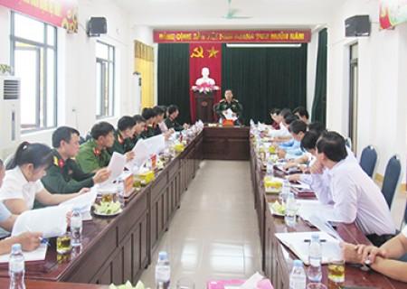 Thống nhất dự thảo kết quả kiểm tra việc lãnh đạo, chỉ đạo thực hiện nhiệm vụ quân sự, quốc phòng đối với BTV Huyện ủy