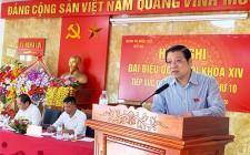Bí thư Trung ương Đảng Phan Đình Trạc tiếp xúc cử tri Nghĩa Đàn