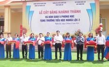 Bàn giao 5 phòng học cho trường Tiểu học Nghĩa Lộc 2