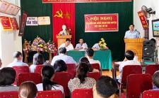 Đại biểu HĐND huyện khóa XIX tiếp xúc cử tri trước kỳ họp 16