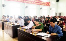 Đại biểu HĐND huyện tiếp xúc cử tri trước kỳ họp thứ 16, khóa XIX nhiệm kỳ 2016 – 2021 tại xã Nghĩa Lâm
