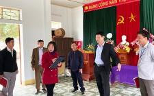 Thẩm định kết quả thực hiện xây dựng NTM năm 2020 tại xóm Sông Lim, Ấp Mỹ xã Nghĩa Lộc