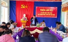 Thẩm định kết quả thực hiện xây dựng NTM năm 2020 tại làng Đồng Song xã Nghĩa Yên