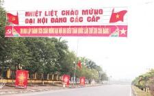 Nghĩa Đàn rực rỡ cờ, băng rôn chào mừng Đại hội đại biểu toàn Quốc lần thứ XIII của Đảng