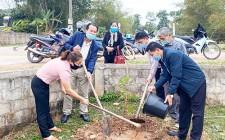"""Nông dân xã Nghĩa Hưng ra quân trồng """"hàng cây nông dân ơn Bác"""""""
