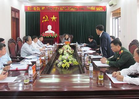 Phiên họp Thường trực Huyện ủy mở rộng