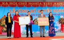 Xã Nghĩa An đón bằng công nhận xã đạt chuẩn NTM năm 2020