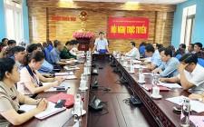 UBND huyện tổ chức hội nghị trực tuyến quý I/2021 với các xã, thị trấn