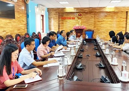 Kiểm tra công tác tuyên truyền bầu cử trên địa bàn huyện Nghĩa Đàn