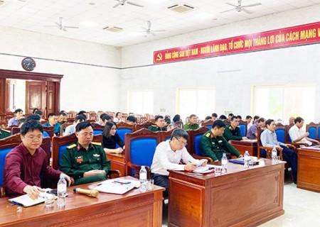 Hội nghị Triển khai diễn tập chiến đấu phòng thủ cấp xã năm 2021