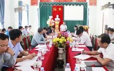 UBND huyện Nghĩa Đàn làm việc với xã Nghĩa Lộc về tiến độ xây dựng NTM